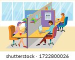 business office people maintain ... | Shutterstock .eps vector #1722800026