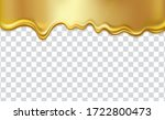 golden flowing liquid texture ... | Shutterstock .eps vector #1722800473