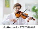 Man Playing Violin. Classical...