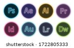 Logo Adobe Family Neon Vector