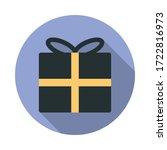 gift box long shadow icon....