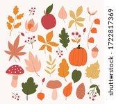 set of autumn elements.autumn... | Shutterstock .eps vector #1722817369
