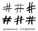 Rough Brush Hashtag Signs....