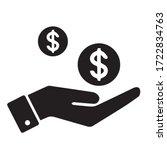 money icon vector black color | Shutterstock .eps vector #1722834763