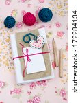 old notebook for love notes and ... | Shutterstock . vector #172284134