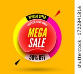 special offer mega sale... | Shutterstock .eps vector #1722841816