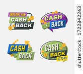cash back  colorful lettering... | Shutterstock .eps vector #1722842263