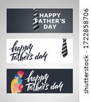 father's day banners set.... | Shutterstock .eps vector #1722858706