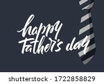 lettering happy father's day.... | Shutterstock .eps vector #1722858829