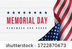 memorial day   remember and... | Shutterstock .eps vector #1722870673