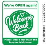 open sign on the front door  ...   Shutterstock .eps vector #1722873070
