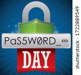 padlock like shield  password... | Shutterstock .eps vector #1722889549