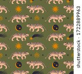 seamless pattern with chinese... | Shutterstock .eps vector #1722889963