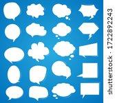 Set White Speech Bubbles On A...