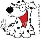 cute cartoon dalmatian  smiling ... | Shutterstock .eps vector #172289366