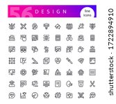 set of 56 design line icons...   Shutterstock .eps vector #1722894910