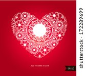 beautiful heart for valentines... | Shutterstock .eps vector #172289699