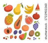 big fruit set. modern flat...   Shutterstock .eps vector #1722902260
