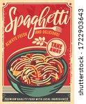 spaghetti retro restaurant... | Shutterstock .eps vector #1722903643