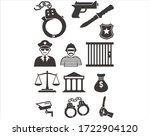 crime is behavior that is... | Shutterstock .eps vector #1722904120