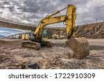 Excavator In The Construction...