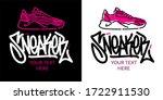 abstract hand written graffiti...   Shutterstock .eps vector #1722911530