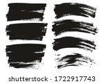flat paint brush thin long  ... | Shutterstock .eps vector #1722917743