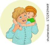 vector illustration of a senior ... | Shutterstock .eps vector #1722929449