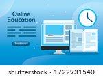 education online technology...   Shutterstock .eps vector #1722931540