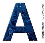 digital letter a on the white... | Shutterstock . vector #172293890