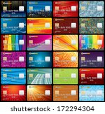 credit card templates vector.... | Shutterstock .eps vector #172294304