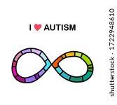 i love autism hand drawn vector ... | Shutterstock .eps vector #1722948610