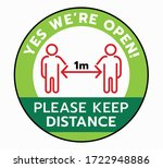 yes we're open again vector... | Shutterstock .eps vector #1722948886
