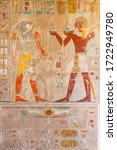 Egyptian Wall Painting In The...