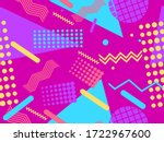 memphis seamless pattern with... | Shutterstock .eps vector #1722967600