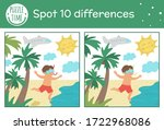 summer find differences game... | Shutterstock .eps vector #1722968086
