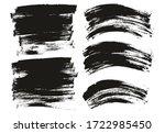 flat paint brush thin long  ... | Shutterstock .eps vector #1722985450