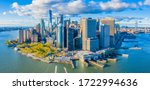 Aerial View Of Manhattan...