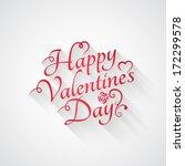valentines day vintage retro... | Shutterstock .eps vector #172299578