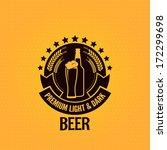 beer bottle glass vintage... | Shutterstock .eps vector #172299698