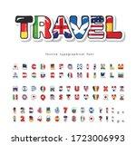 world flags cartoon font.... | Shutterstock .eps vector #1723006993