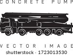 concrete pump  stylized image ... | Shutterstock .eps vector #1723013530