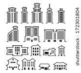 building vector set | Shutterstock .eps vector #172301804