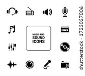 music and sound icons. solid... | Shutterstock .eps vector #1723027006