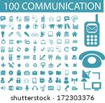100 communication  connection ...   Shutterstock .eps vector #172303376