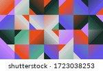 geometric abstract vector... | Shutterstock .eps vector #1723038253