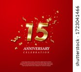 15th anniversary celebration.... | Shutterstock .eps vector #1723041466