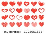 hearts icon collection.... | Shutterstock .eps vector #1723061836