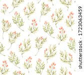 floral watercolor seamless...   Shutterstock . vector #1723063459