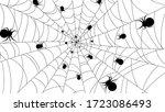 spider web on white background. ... | Shutterstock .eps vector #1723086493